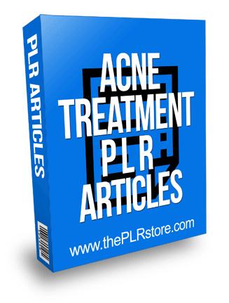 Acne Treatment PLR Articles