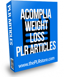 Acomplia Weight Loss PLR Articles