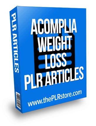 Acomplia Weight Loss PLR Articles