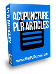acupuncture plr articles