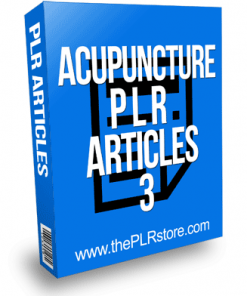 Acupuncture PLR Articles 3