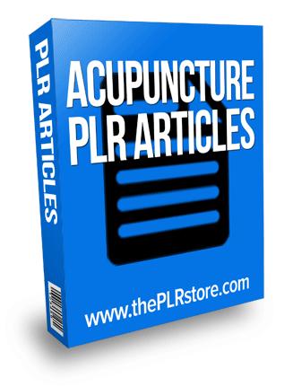 acupuncture plr articles