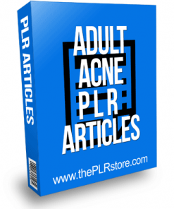 Adult Acne PLR Articles