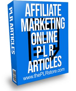 Affiliate Marketing Online PLR Articles