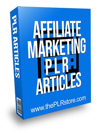 Affiliate Marketing PLR Articles