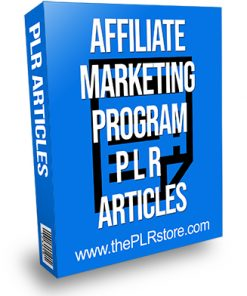 Affiliate Marketing Program PLR Articles