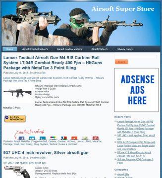 Airsoft PLR Amazon Store Website Pre-loaded airsoft plr amazon store website main 327x361