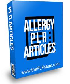 Allergy PLR Articles