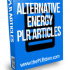 alternative energy plr articles
