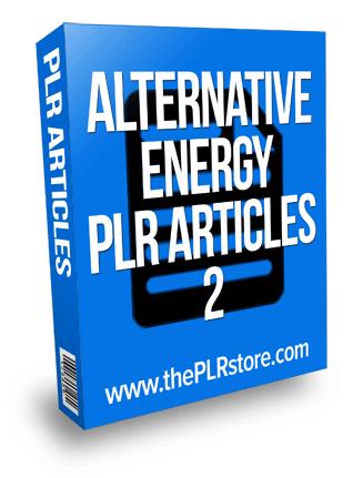 alternative energy plr articles