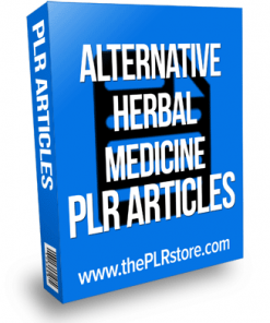alternative herbal medicine plr articles