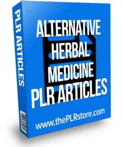 alternative herbal medicine plr articles