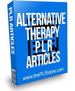 Alternative Therapy PLR Articles