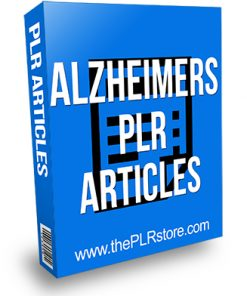 Alzheimers PLR Articles