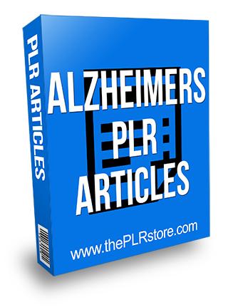 Alzheimers PLR Articles