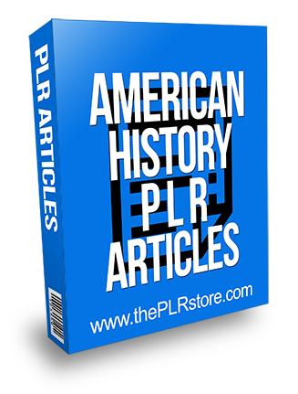 American History PLR Articles