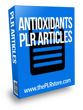 antioxidants plr articles