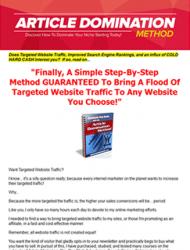 article domination method plr ebook article domination method plr ebook Article Domination Method PLR Ebook article domination method plr ebook 190x250