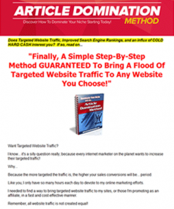 article domination method plr ebook