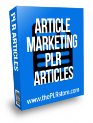Article Marketing PLR Articles