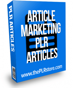 Article Marketing PLR Articles