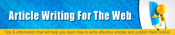 Article Writing For The Web PLR Autoresponder Messages