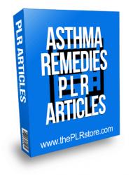 Asthma Remedies PLR Articles