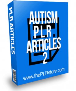 Autism PLR Articles 2 with Private Label Rights