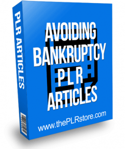 Avoiding Bankruptcy PLR Articles