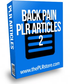 back pain plr articles