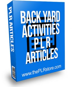 Back Yard Activities PLR Articles