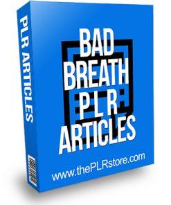 Bad Breath PLR Articles