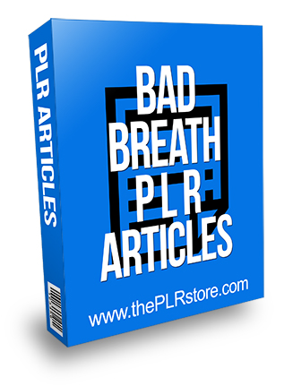 Bad Breath PLR Articles