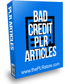 Bad Credit PLR Articles