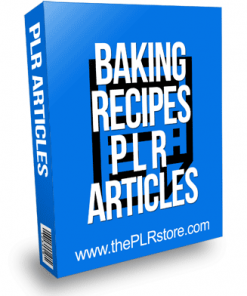 Baking Recipes PLR Articles