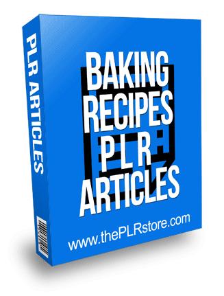 Baking Recipes PLR Articles
