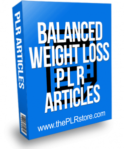 Balanced Weight Loss PLR Articles