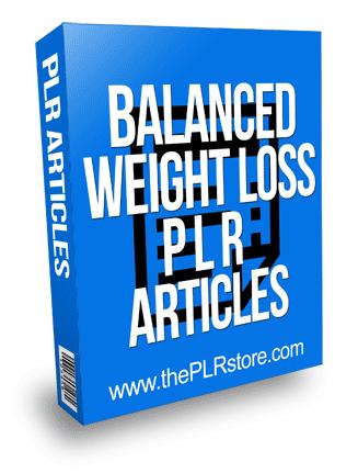 Balanced Weight Loss PLR Articles
