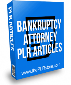 Bankruptcy Attorney PLR Articles