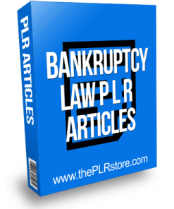 Bankruptcy Law PLR Articles