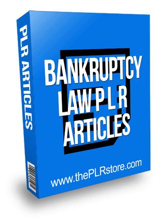 Bankruptcy Law PLR Articles