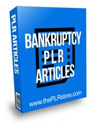 Bankruptcy PLR Articles