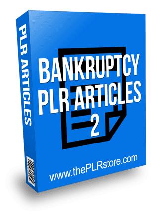 Bankruptcy PLR Articles 2