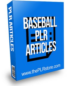Baseball PLR Articles