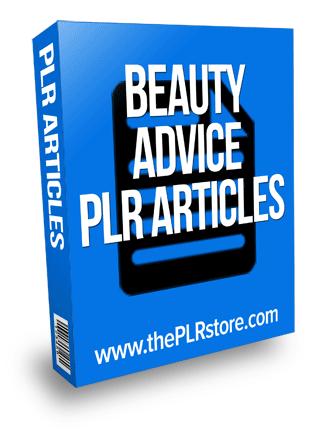 beauty advice plr articles