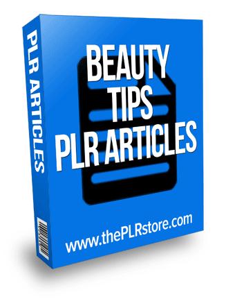 beauty tips plr articles
