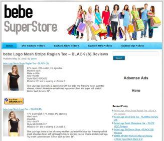bebe Fashion PLR Amazon Store Website Pre-Loaded bebe fashion plr amazon store website main 327x280