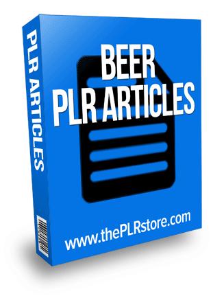 beer plr articles
