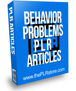 Behavior Problems PLR Articles