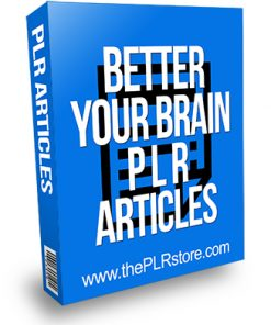 Better Your Brain PLR Articles